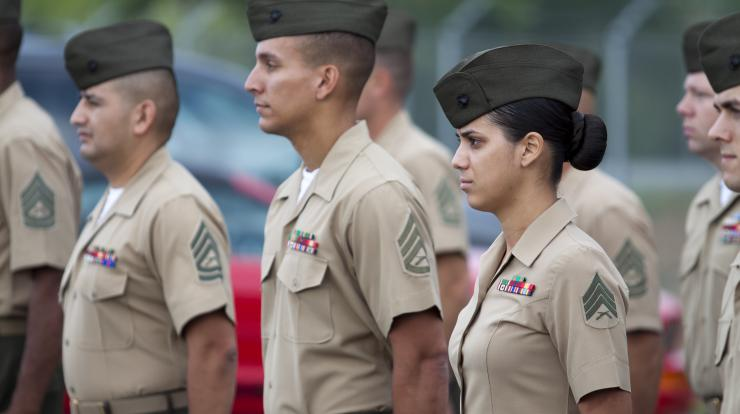 marines in formation