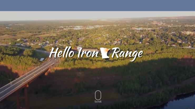 Hello Iron Range! website screen shot