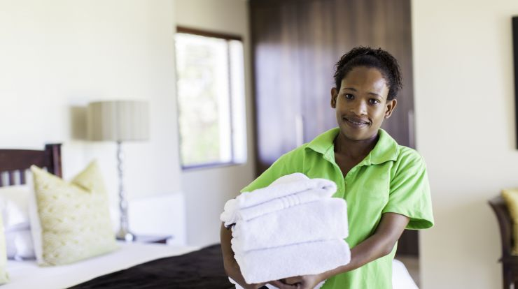 image of a hotel maid or housekeeping staff
