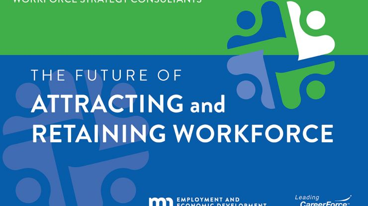 graphic with puzzle pieces image that says The Future of Attracting and Hiring Workforce and DEED, a Leading CareerForce partner