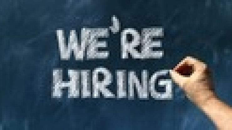 chalkboard with we're hiring