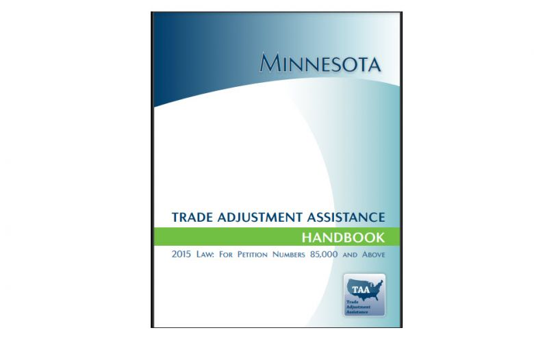 Image of the Minnesota Trade Adjustment Assistance Handbook cover page