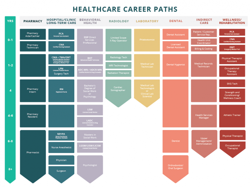health care career laddering graphic