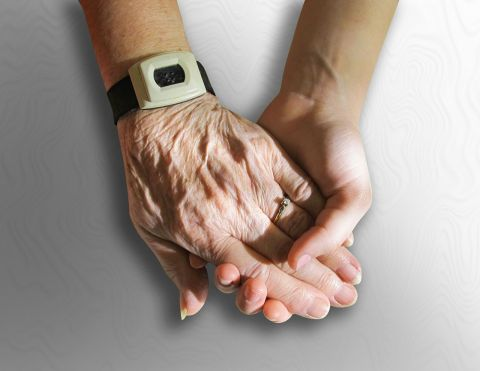 image of old and young hands