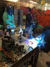 image of welding work station at EPIC event